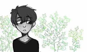 Monochrome boy and the Ivy by AppleRiddles