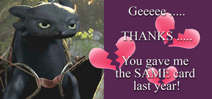 Toothless Valentine Card by masterrohan
