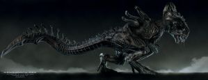 Xenomorph - Rex - Illustration by Rhythem02
