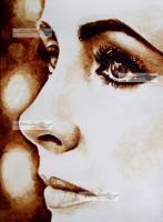 liz taylor coffee painting by aramismarron