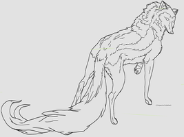 Kinda looks like a coyote... -free line-art- by SuperiorIntellect