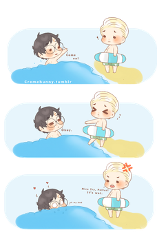 Chibi Drarry - Wet Water by Cremebunny