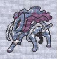 Suicune Pokemon cross stitch by Lil-Samuu