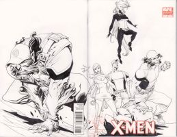 x gang inked, pre- toning stage by mccat