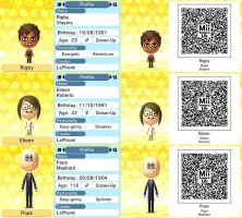 Regular Show QR Codes: Rigby, Eileen and Pops by LaPhomi