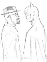Heisenberg Vs Batman by guinnessyde