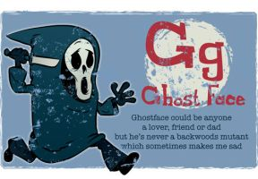 G is for Ghostface by Ape74