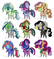Pony adopts (15 points) by Loser-Derpy