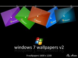 windows 7 wallpapers v2 by aminemax
