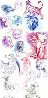 sketches and wips by wolf-minori