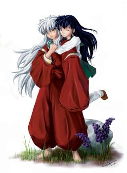 Inuyasha and Kagome by alicia-lee