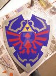 Skyward Sword Link Shield by Bwabbit