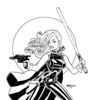 Mara Jade 2 Inks by BillMcKay