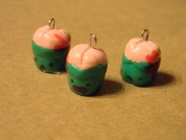 Zombie Cupcake Charms by SlightInsanity