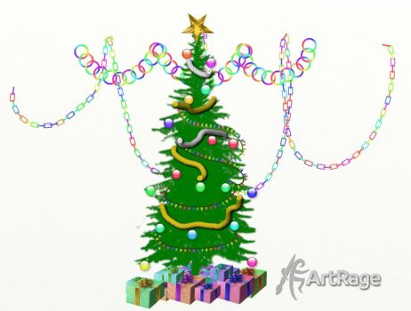 Artrage Sticker Spray Christmas Tree by ArtRageTeam