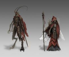 Insectoid Concepts by ArtofGunn