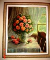 Flowers - oil painting by cristianosuguitani