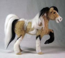 Needle Felted Horse Buckskin Tobiano by The-GoblinQueen