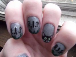 Tombstone Nails by wittlecabbage