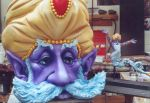 Genie head next to maquette by dreamfloatingby