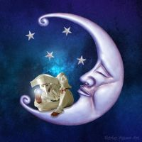 Man In the Moon by Shirley-Agnew-Art