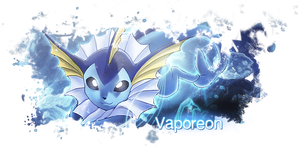 Vaporeon Sig by BlueFire-13