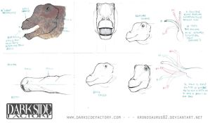 Argentinosaurus Model Sheet 2 by Kronosaurus82
