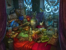 The Harem. Hidden Objects by nevardaed