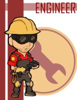 TF2 Chibi Red Engineer by Fir3Ph03n1X