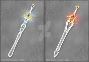 Crystal swords (CLOSED) by Rittik-Designs