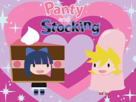 Panty and Stocking by demon-squid