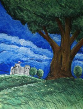 tree and castle, 2008 by severfire