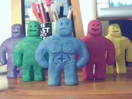 The Claymen by chrisbeirne