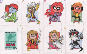 09-15 WOMEN OF MARVEL: SERIES 2 sketch cards by thecheckeredman