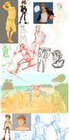An Unimpressive Amount of Doodles by YourMeltedCrayons