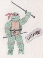 embarrassing childhood Leonardo 1990 by mooncalfe
