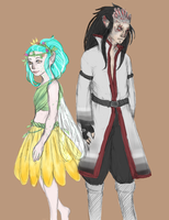Fairy Princess Levy and Dragon Prince Gajeel by chlsjiles