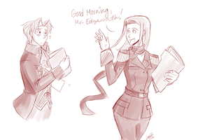 Morning, Mr. Edgeworth. by TangentialX