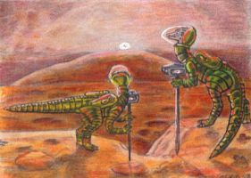 Dinosaurs on Mars by LEXLOTHOR