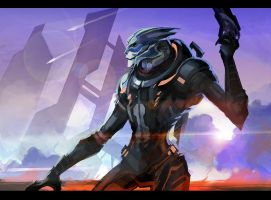 The Best Turian Ever... Garrus by Akagamii