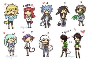 Tiny Kemonomimi Adopts CLOSED by MissPinks