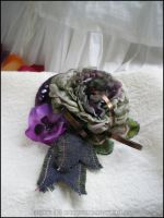 Green and purple Hair jewel, UNIQUE PIECE by Miyou-illustration