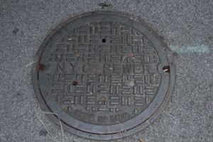 NYC sewer cover - made in India by jswis
