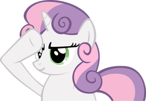 Sweetie Belle Salute by RedtoxinDash