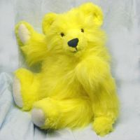 OOAK plush yellow teddy bear by CreativeCritters