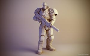 Sci-fi soldier figure #1 by keshon83