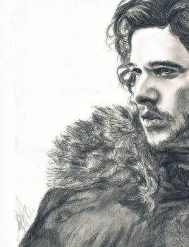 Jon Snow I am the Sword in the Darkness by crysaniasea