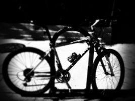 Bike in black and white by GeneLythgow