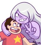 Amethyst and Steven by SaBasse
