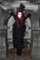 Stock -  Vampire lady red hair crypta by S-T-A-R-gazer